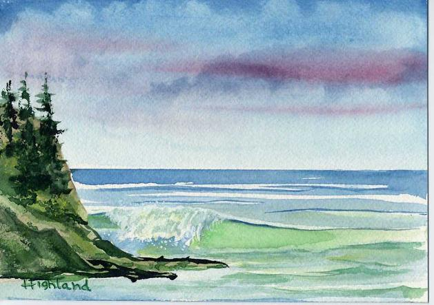 Simple Watercolor Paintings Of Nature  - Pic Neskowincoast